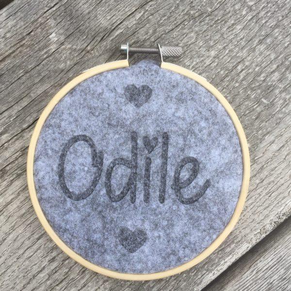Balt met vilt voor Odile