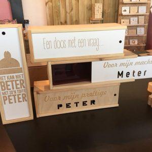 Enkele voorbeelden van houten fleskoffers