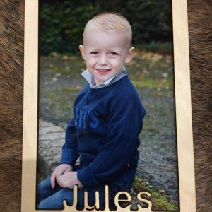 Houten fotoframe voor Jules