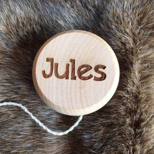Houten jojo voor Jules