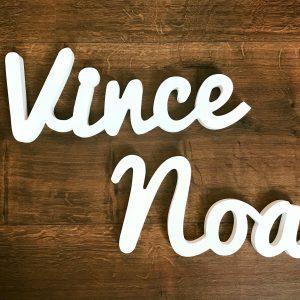 Vince & Noa in 3D letters